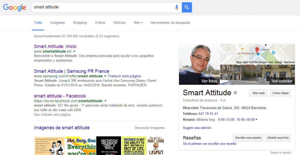 Plataforma de Marketing Smart Attitude en Google
