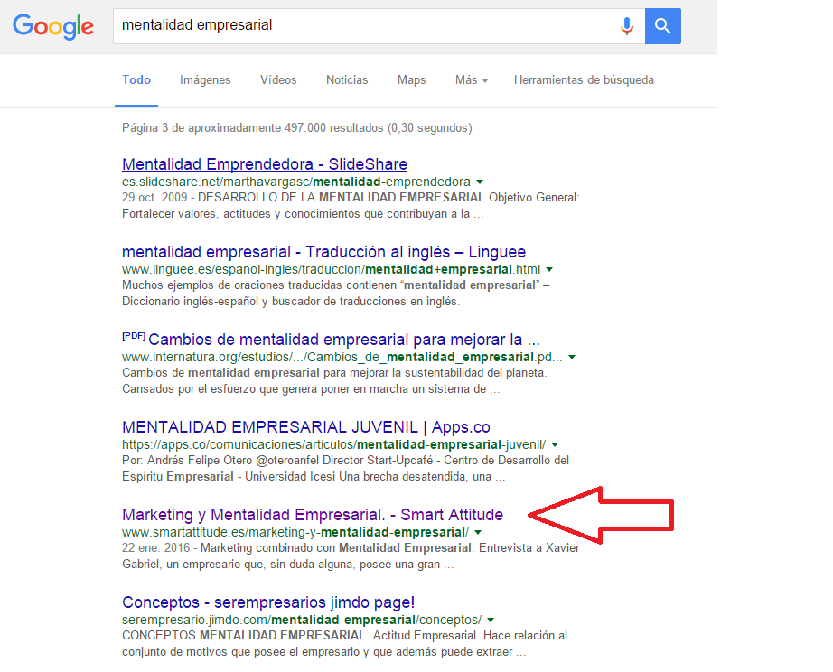 Plataforma de Marketing Smart Attitude en Google 2